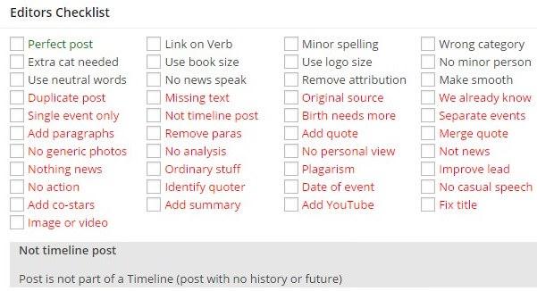 Editors Checklist